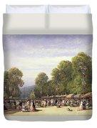 Festival At St. Cloud, C.1860 Duvet Cover