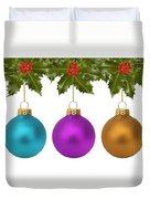 Festive Christmas Baubles Duvet Cover