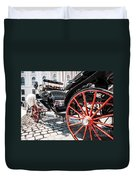 Fiaker Carriage In Vienna Duvet Cover