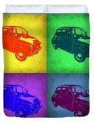 Fiat 500 Pop Art 1 Duvet Cover by Naxart Studio