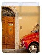 Fiat Parking Duvet Cover