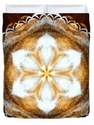 Fiber Optic Gold Duvet Cover