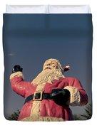 Fiberglass Santa Claus Duvet Cover