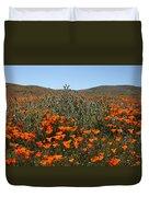 Fiddlenecks And Poppies Duvet Cover
