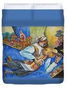 Fiddler On The Roofs Duvet Cover