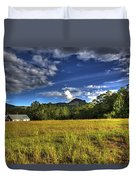 Field Bathed In Sunshine Duvet Cover
