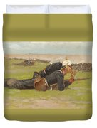 Field Drill For The Prussian Infantry  Duvet Cover