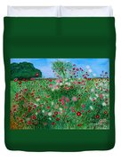Field Of Cosmos Duvet Cover