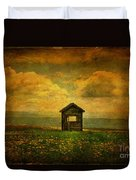 Field Of Dandelions Duvet Cover by Lois Bryan