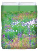 Field Of Flowers In Nature Duvet Cover