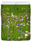 Field Of Flowers Duvet Cover by Leyla Ismet