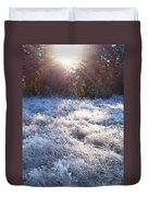 Field Of Frost Duvet Cover