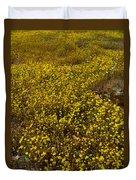 Field Of Goldfields In Park Sierra-ca Duvet Cover