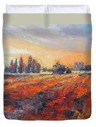 Field Of Light Oil Painting Duvet Cover