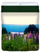 Field Of Lupines Duvet Cover