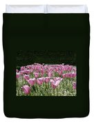 Field Of Pink Duvet Cover
