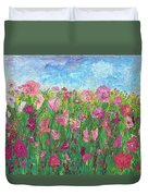Field Of Pink For The Ladies Duvet Cover