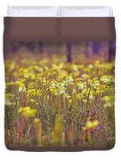 Field Of Pitcher Plants Duvet Cover