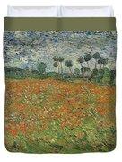 Field Of Poppies, Auvers-sur-oise, 1890 Duvet Cover