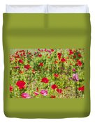 Field Of Poppies Digital Art Prints Duvet Cover