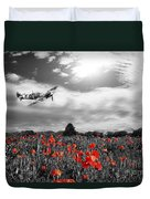 Field Of Red Duvet Cover