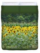 Field Of Sunflowers Duvet Cover