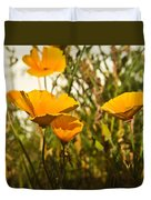 Field Of Yellow Poppies Duvet Cover