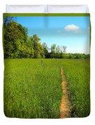 Field Path Duvet Cover