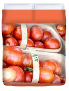 Field Tomatoes Duvet Cover