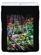 Fields And Fences Of Wawona In Yosemite National Park Duvet Cover