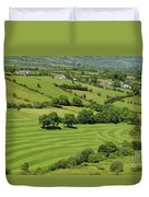 Fields In Northern Ireland Duvet Cover