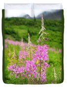 Fields Of Fireweed Duvet Cover