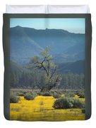 Fields Of Yellow Foxglove Duvet Cover