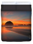 Fiery Bandon Beach Duvet Cover by Adam Jewell