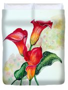Fiery Callas Duvet Cover