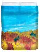 Fiery Fall In The Hills Duvet Cover