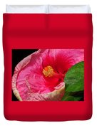 Fiery Hibiscus Duvet Cover