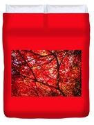 Fiery Maple Veins Duvet Cover