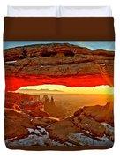 Fiery Morning Duvet Cover