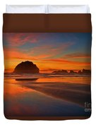 Fiery Ocean Stream Duvet Cover by Adam Jewell