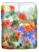 Fiery Poppies Duvet Cover