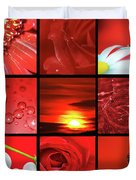 Fiery Red Duvet Cover