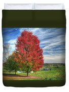 Fiery Red Maple Duvet Cover
