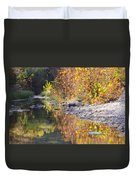 Fiery Reflection At Lost Maples Duvet Cover