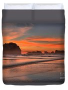 Fiery Ripples In The Surf Duvet Cover