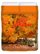 Fiery Rock Wall Duvet Cover