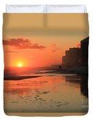 Fiery Seashore Duvet Cover
