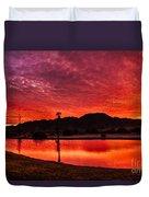 Fiery Sunrise Duvet Cover