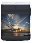Fiery Sunset Skys Duvet Cover