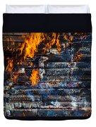 Fiery Transformation Duvet Cover